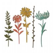 Sizzix Tim Holtz - Thinlits Die Set 5pk - Wildflower Stems #1 - 664163